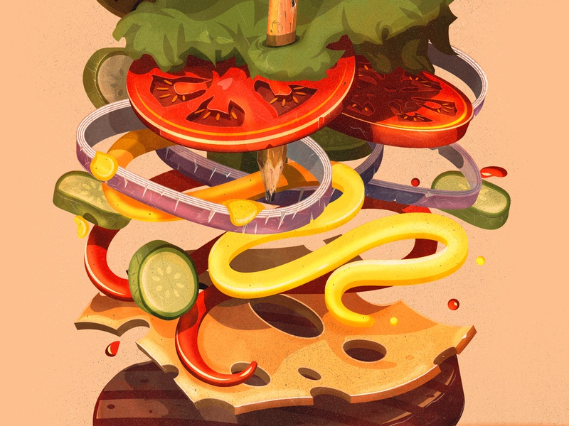 Burger time logo adobe branding the creative pain illustrator illustration vector