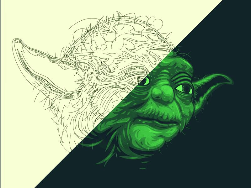 Vector Yoda may the 4th medallion starwar yoda branding the creative pain illustrator illustration vector