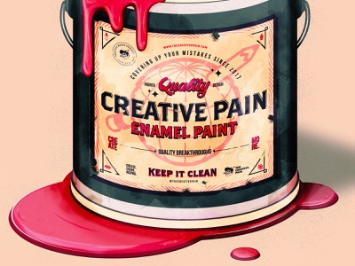 Paint it on paint typedesign typography branding the creative pain illustrator illustration vector