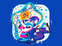Ohhh yeaaaaah wizard wacom design-off adventure time ice king adobe flat illustrator illustration vector