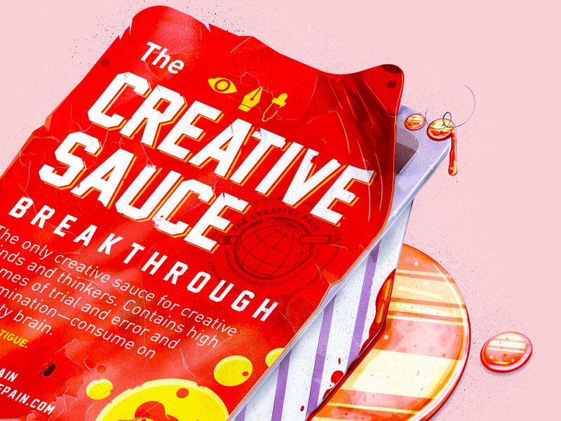 The Creative sauce branding typography the creative pain illustrator illustration vector