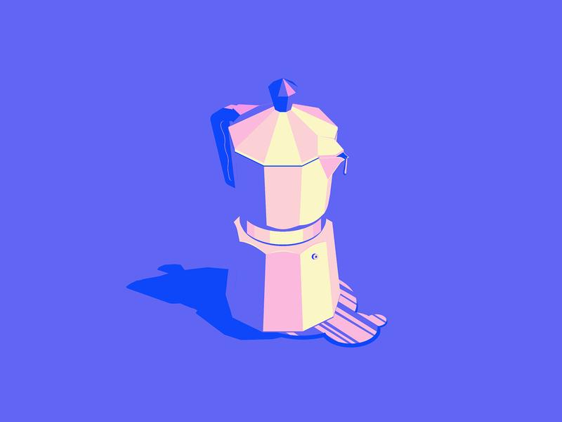 Espresso Time coffee pot espresso flat icons illustrator illustration vector