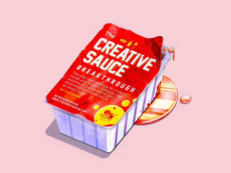 The Creative Sauce food dripping sauce creative sauce creative sauce typography branding the creative pain illustrator illustration vector