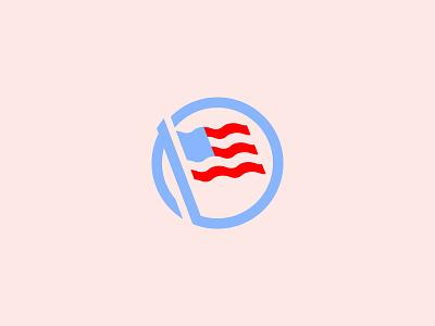 USA flag election vote usa america flag lines flat design icons branding illustrator illustration vector