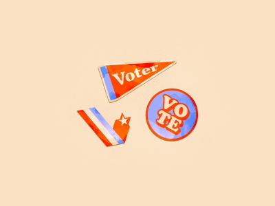 Vote Stickers stickers 2020 election day voter icon typography branding illustrator illustration vector