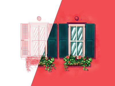 Window outlines process outlines window charleston the creative pain illustrator illustration vector