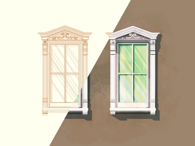 Window outlines windows sc charleston outlines flat the creative pain illustrator illustration vector