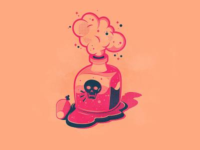 Day 4: Poison skull halloween toxic poison icons branding the creative pain illustrator illustration vector