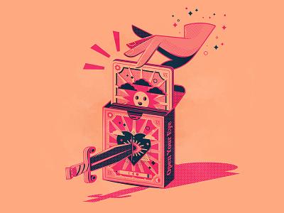 Day 8: Tarot tattoo magic cards tarot branding the creative pain illustrator illustration vector