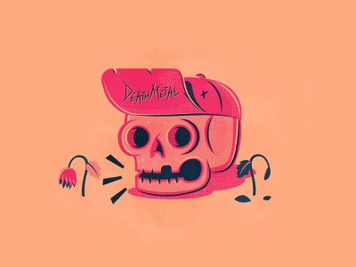 Day 11: Skeleton skulls death metal skull branding the creative pain illustrator illustration vector