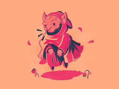 Day 16: Goblin halloween goblin the creative pain illustrator illustration vector