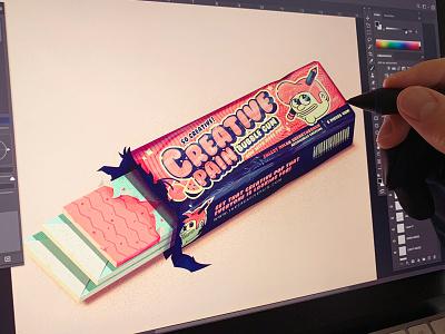 Creative POP! branding design pop bubble gum logo icons design branding the creative pain illustrator illustration vector