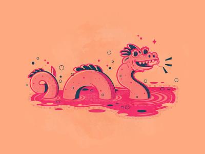 Day 23: Cryptid dragon nessie branding the creative pain illustrator illustration vector