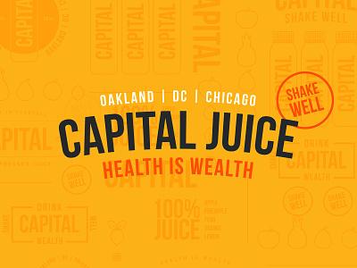 Capital Juice type capital branding juice design icons branding the creative pain illustrator illustration vector