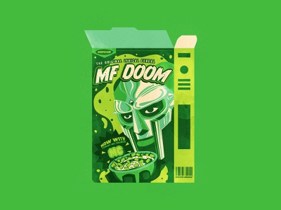 MF Doom cereal cereal icons simple logo typography branding the creative pain illustrator illustration vector doomsday mf doom