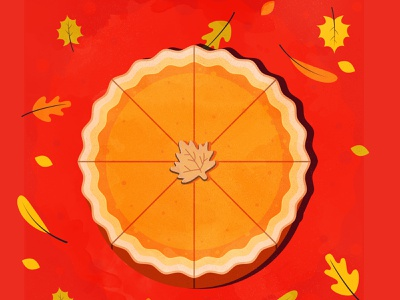 Fall pie leafs apple pie thanksgiving fall branding the creative pain illustrator illustration vector