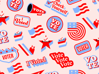Vote branding simple typography flat icons biden vote the creative pain illustrator illustration vector