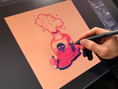 Poison vector skulls poison icons the creative pain illustrator illustration vector