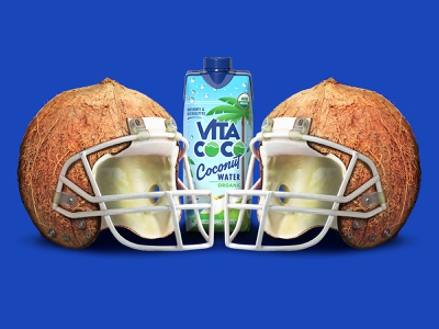 Coconut helmet helmets branding illustrator illustration vector super bowl football nfl vita coco coconut