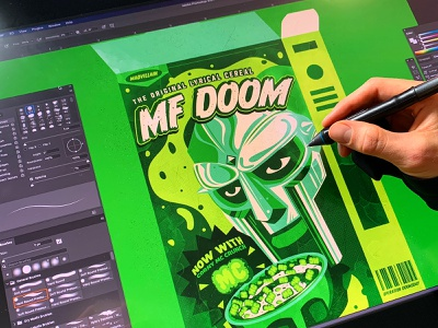 MF DOOM branding icon typography behind the scenes process wacom rip mf doom mf doom the creative pain illustrator illustration vector
