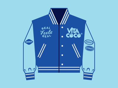 Vita Coco x Varsity Assets college varsity jacket design icons branding the creative pain illustrator illustration vector