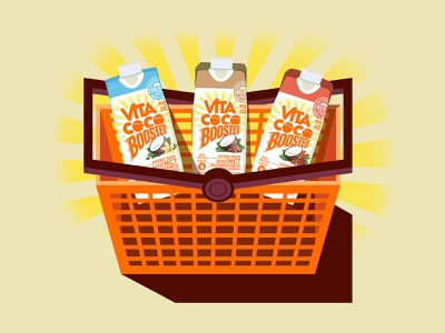 Vita Coco Illustration boosted branding icons the creative pain illustrator illustration vector