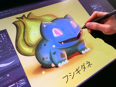 Bulbasaur Pokemon  illustration 25 anniversary bulbasaur pokemon go