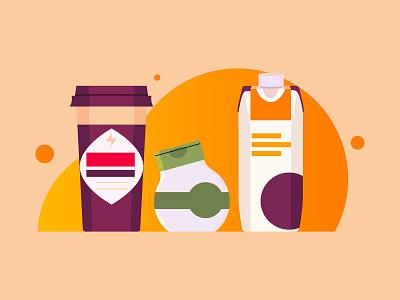 Beverage Illustrations branding the creative pain illustrator illustration vector