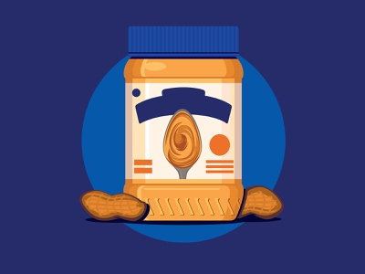 Peanut Butter food peanut butter lines icon flat icons branding the creative pain illustrator illustration vector