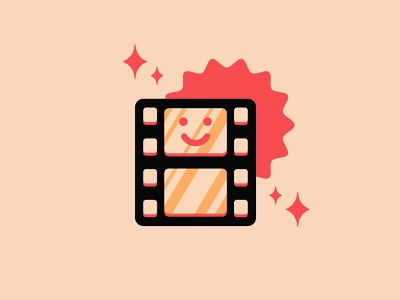 Happy film logo typography flat design icons branding the creative pain illustrator illustration vector