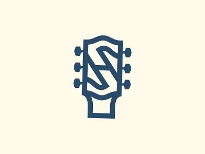 SH Guitar logo music guitar logo sh icons branding the creative pain illustrator illustration vector