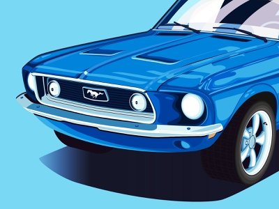 '67 Mustang typography icons the creative pain illustrator illustration vector vectorart cars ford