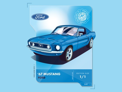 Mustang card ford classic cars 67 mustang ux branding icons the creative pain illustrator illustration vector