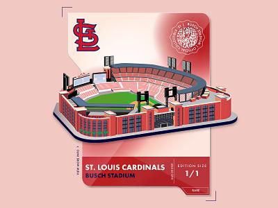 Busch Stadium card st. louis baseball lines typography icons branding the creative pain illustrator illustration vector