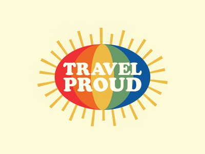 Travel Proud pride month pride branding icons the creative pain illustrator illustration vector