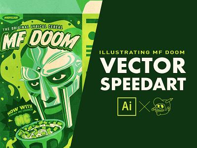 MF Doom speedart speedart mf doom icons branding the creative pain illustrator illustration vector