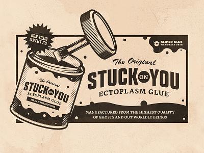Day 12: Stuck ad glue inktober stuck branding the creative pain illustrator illustration vector