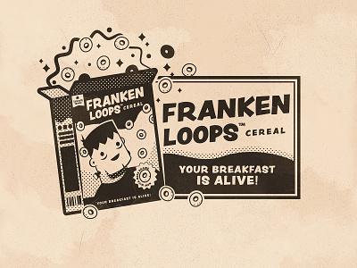 Day 19: Loop inktober frankenstein loops the creative pain illustrator illustration vector