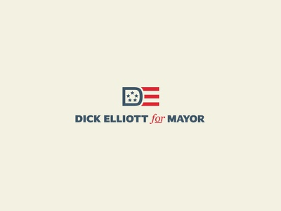 DE for mayor vote mayor flat icons badge simple lines illustrator adobe vector branding logo