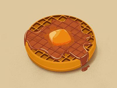 Full Eggo  vector waffles breakfast eggo food