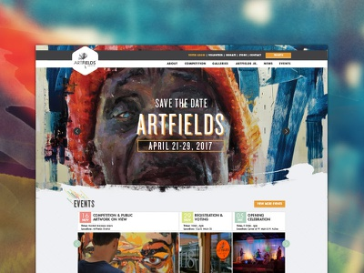 ArtFields website competition nav web design ui website art artfields