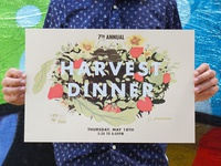 Harvest Dinner screen-print