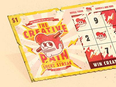 LUCKY STREAK ticket scratch off wining lotto