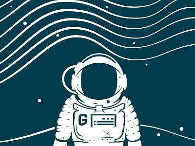 G-man astronaut beer vector space