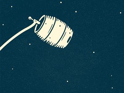 Floater label lost space beer keg