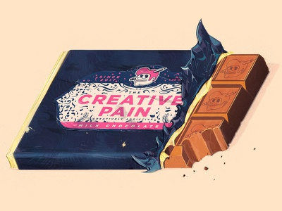 TCP Milk Chocolate Bars label packaging wrapper food pain the creative pain candy chocolate milk chocolate