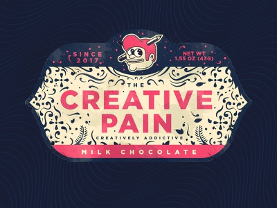 TCP Milk Chocolate label label packaging wrapper food pain the creative pain candy chocolate milk chocolate