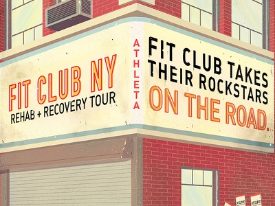 On the road on the road fit club tour recovery rehab athleta building ny