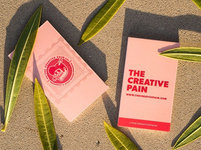 The Creative Pain biz cards lights signs neon markers letters hand drawn custom type the creative pain
