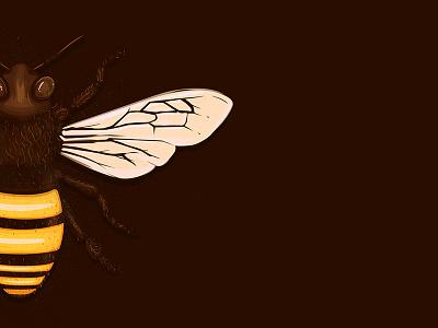 Bee-better hair illustration pollen bugs honey logo icon golden bee